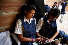 Photo of girls reading